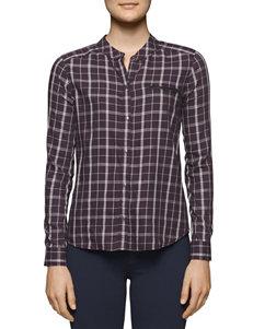 Calvin Klein Jeans Purple Shirts & Blouses