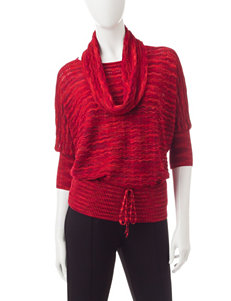 Hannah 2-pc. Metallic Multitonal Sweater & Scarf Set