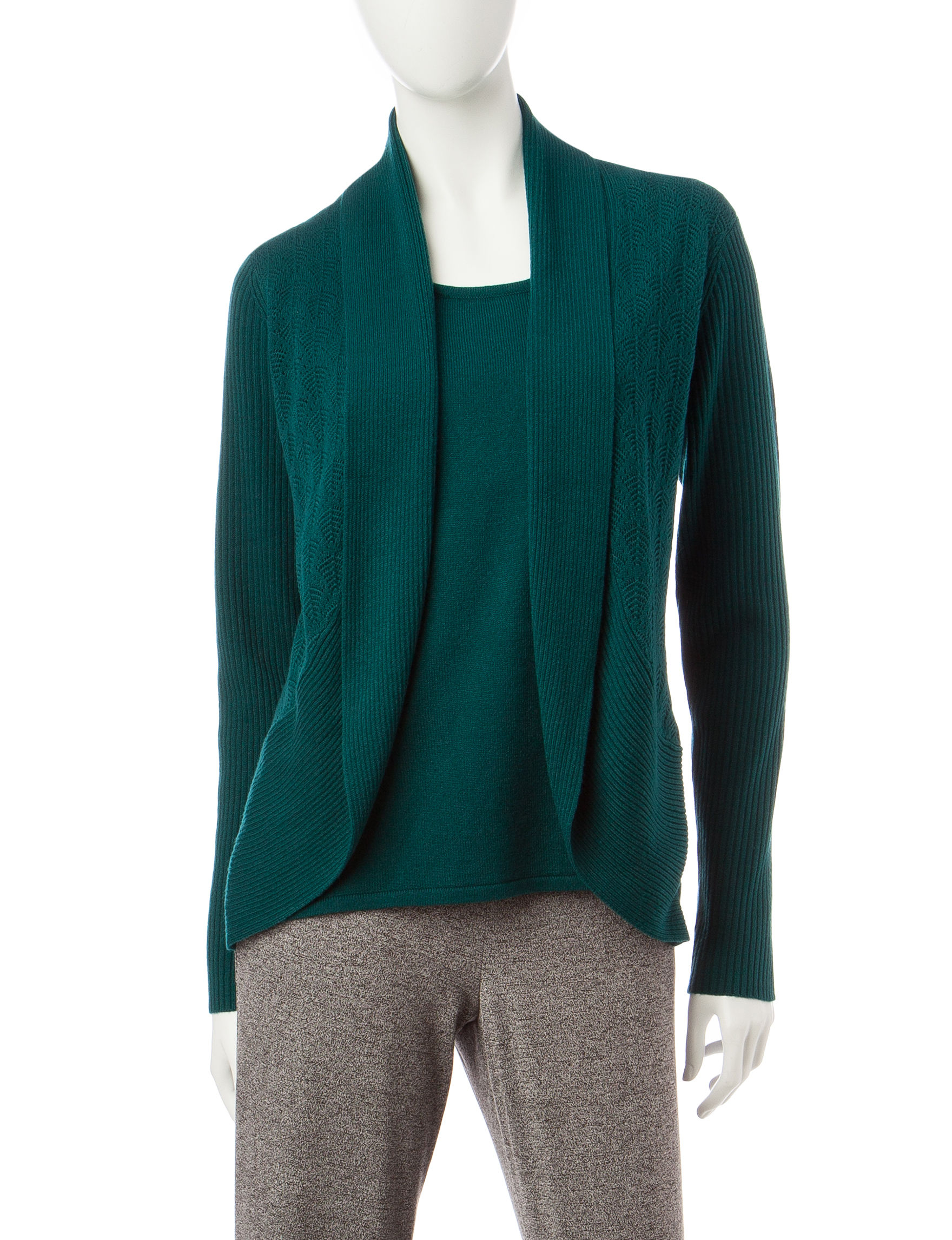 Rebecca Malone Green Pull-overs Sweaters
