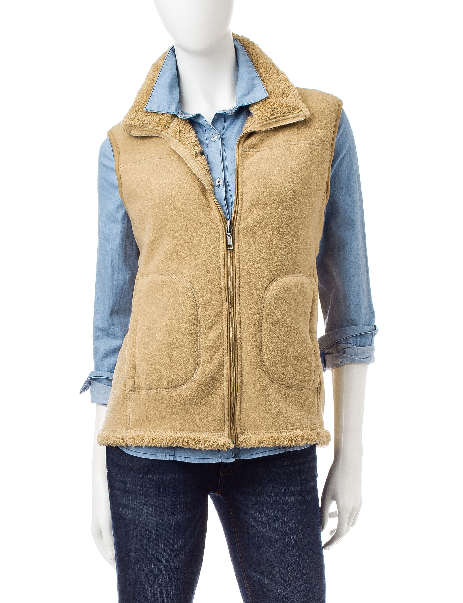 Hannah Light Brown Vests
