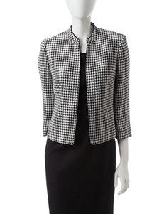 Kasper Black & White Houndstooth Print Jacket