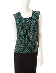 Kasper Triangle Print Knit Top