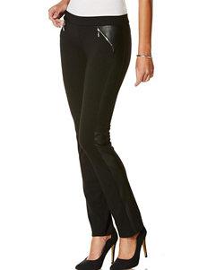 Rafaella Faux Leather Trim Ponte Pants