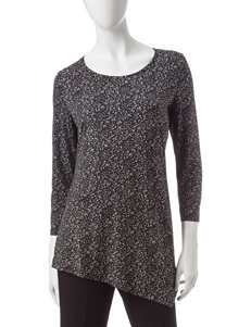 Rafaella Asymmetrical Static Print Top