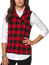 Chaps Buffalo Check Plaid Sweater Vest