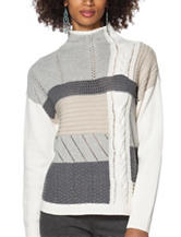 Chaps Color Block Knit Sweater
