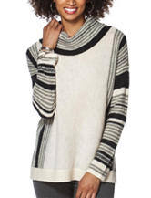 Chaps Striped Wool Blend Sweater