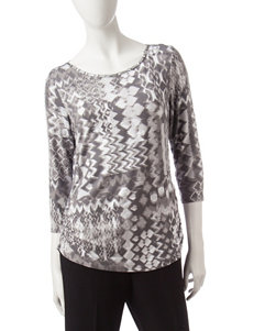 Ruby Road Grey Shirts & Blouses