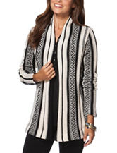Chaps Variegated Striped Design Cardigan