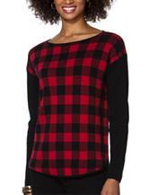 Chaps Buffalo Check Plaid Sweater