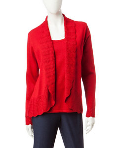 Rebecca Malone Red Pull-overs Sweaters