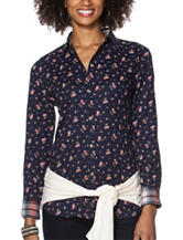Chaps Floral Print Woven Top