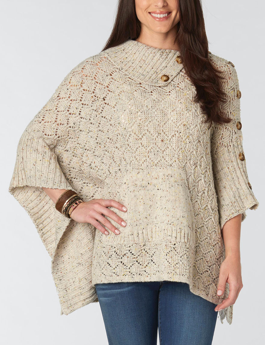 Democracy Oatmeal Ponchos Sweaters