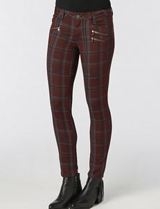 Democracy Plaid Print Pants