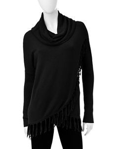 Hannah Crossover Fringed Sweater