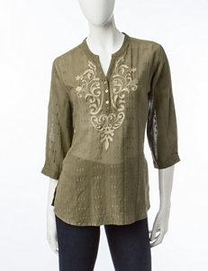 Rebecca Malone Olive / Tan Shirts & Blouses