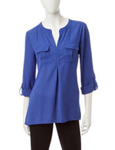 Notations Blue Top