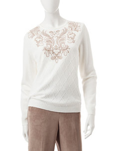 Alfred Dunner Ivory Pull-overs Sweaters