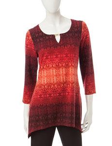 Zac & Rachel Rust Capris & Crops Shirts & Blouses