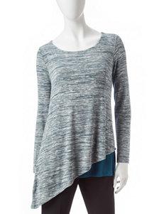 Zac & Rachel Blue Capris & Crops Shirts & Blouses