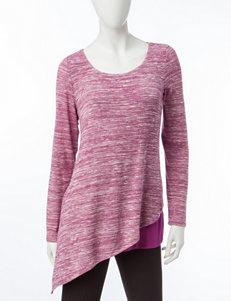 Zac & Rachel Purple Capris & Crops Shirts & Blouses
