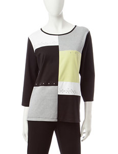 Alfred Dunner Color Block Top