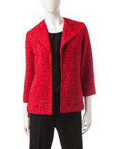Alfred Dunner Boucle Glitter Jacket