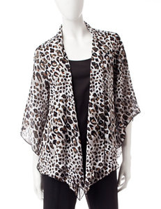 Rebecca Malone Animal Print Layered-Look Top