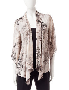 Rebecca Malone Paisley Print Layered-Look Top