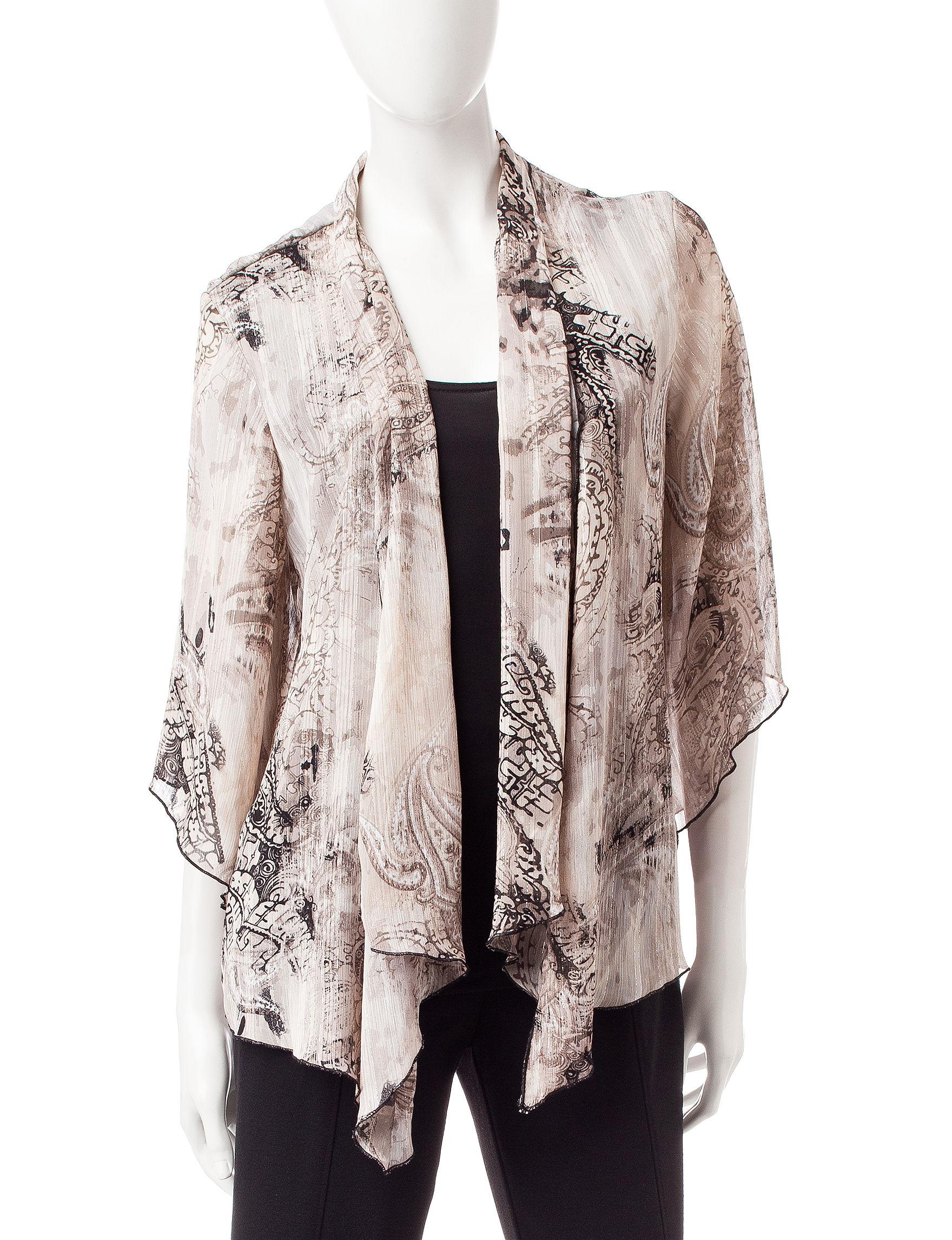 Rebecca Malone Cream/Brown Shirts & Blouses