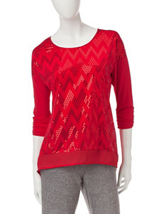 Notations Sparkle Chevron Top