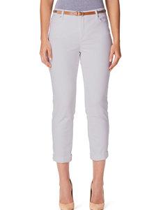 Gloria Vanderbilt Stefania Belted Ankle Length Jeans