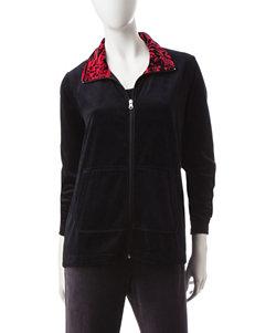 Silverwear Floral Contrast Knit Jacket