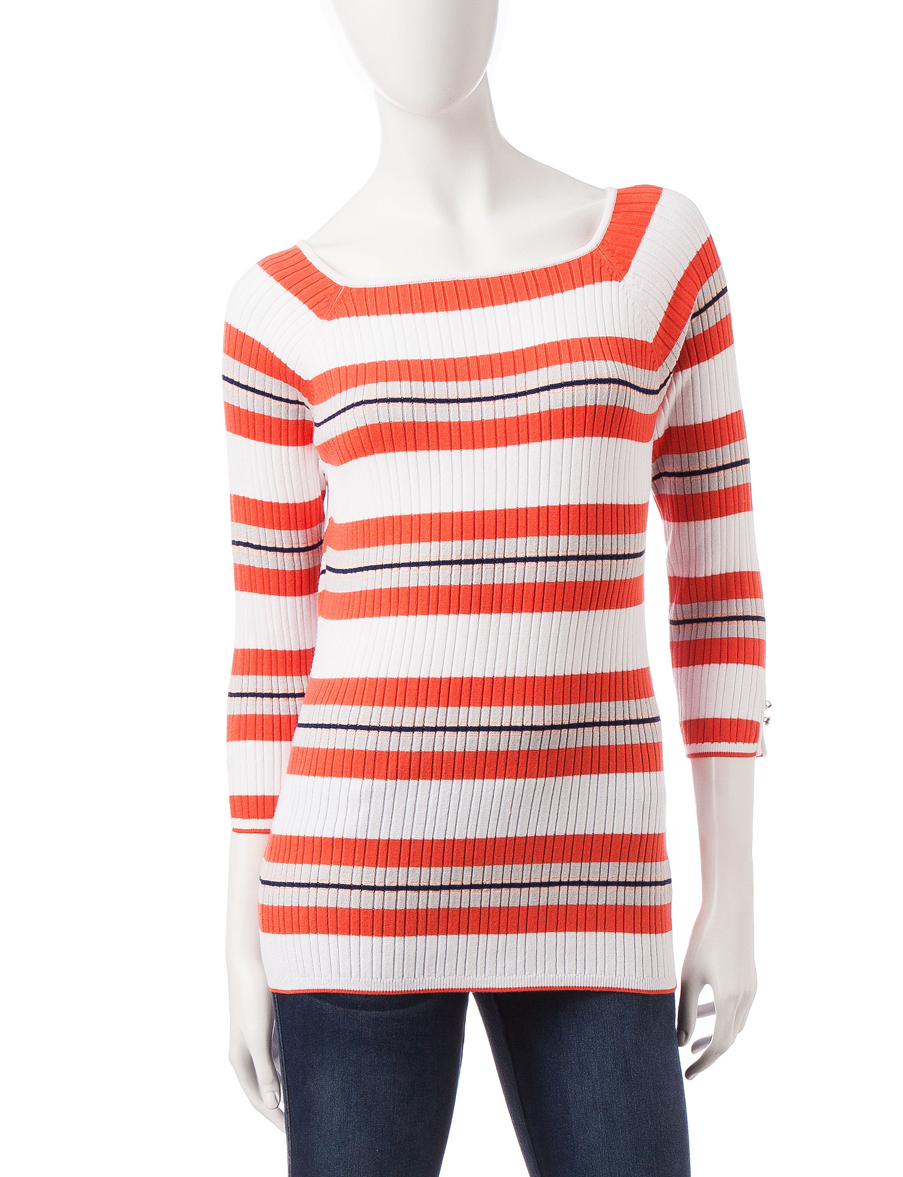 Hannah White / Coral Pull-overs Sweaters