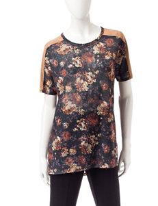 Rebecca Malone Floral Print Tunic Top