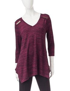 Rebecca Malone Wine Shirts & Blouses