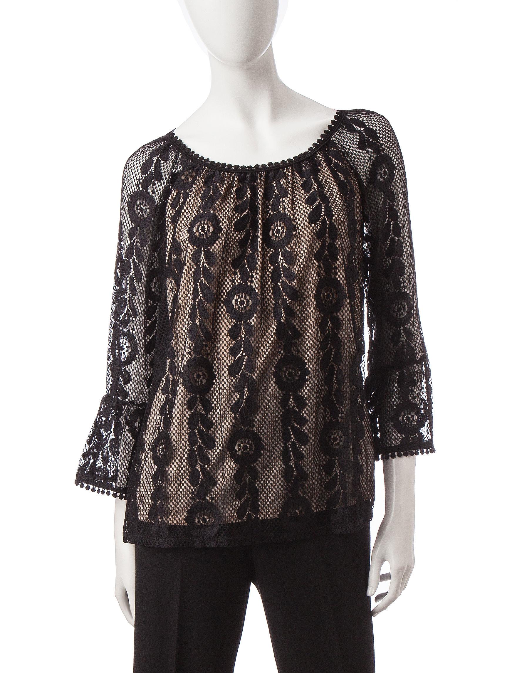 Hannah Black / Taupe Shirts & Blouses