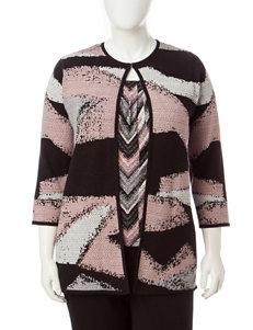 Kasper Pink Multi Cardigans Lightweight Jackets & Blazers