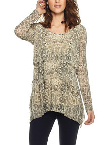 Skyes The Limit Ivory Multi Shirts & Blouses