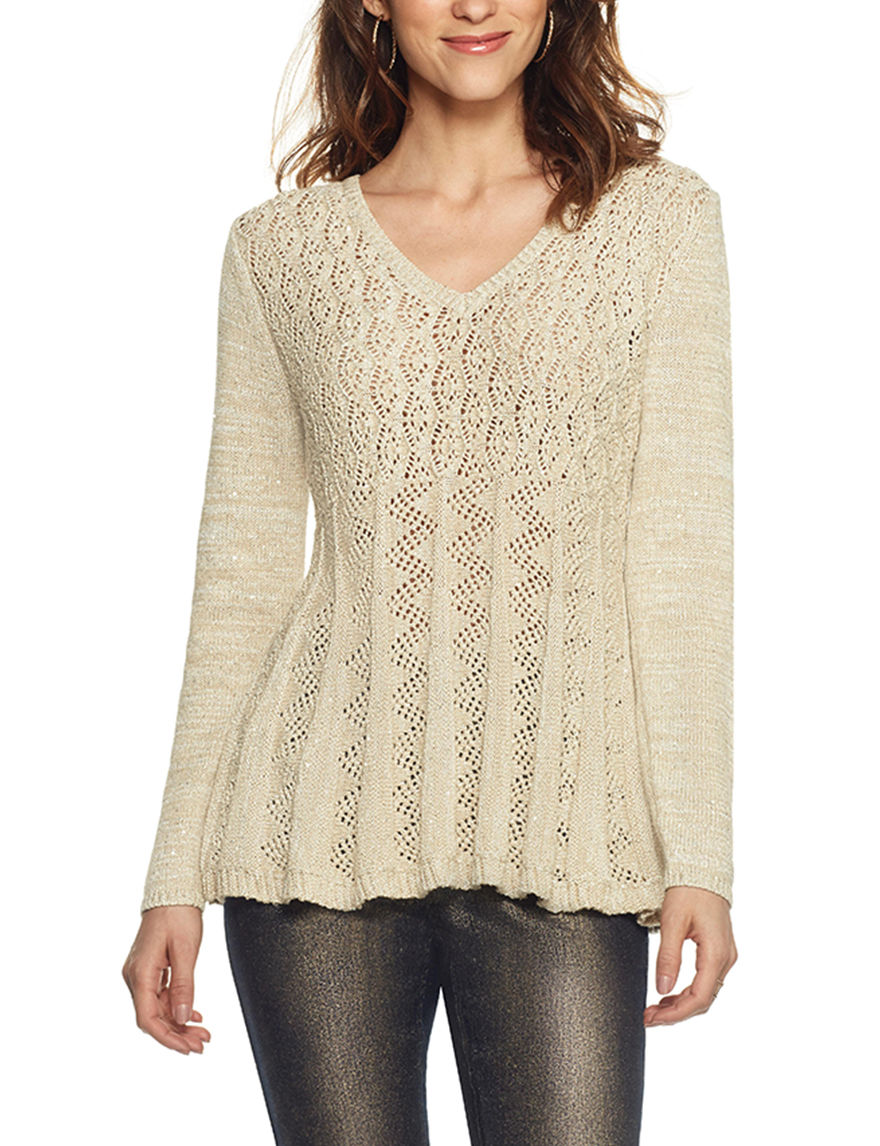 Skyes The Limit Beige Pull-overs Sweaters