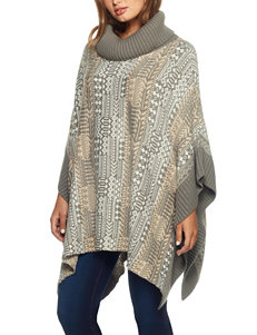 Skye's The Limit Aztec Print Poncho Sweater