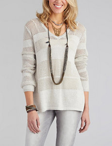Democracy Striped Crochet Sweater