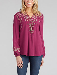 Democracy Embroidered Woven Top