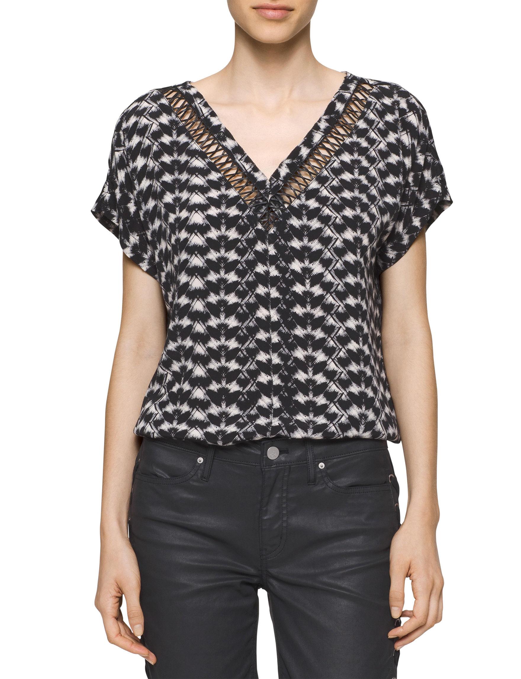Calvin Klein Jeans Black Shirts & Blouses