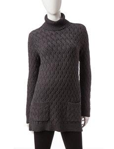 Jeanne Pierre Grey Pull-overs Sweaters