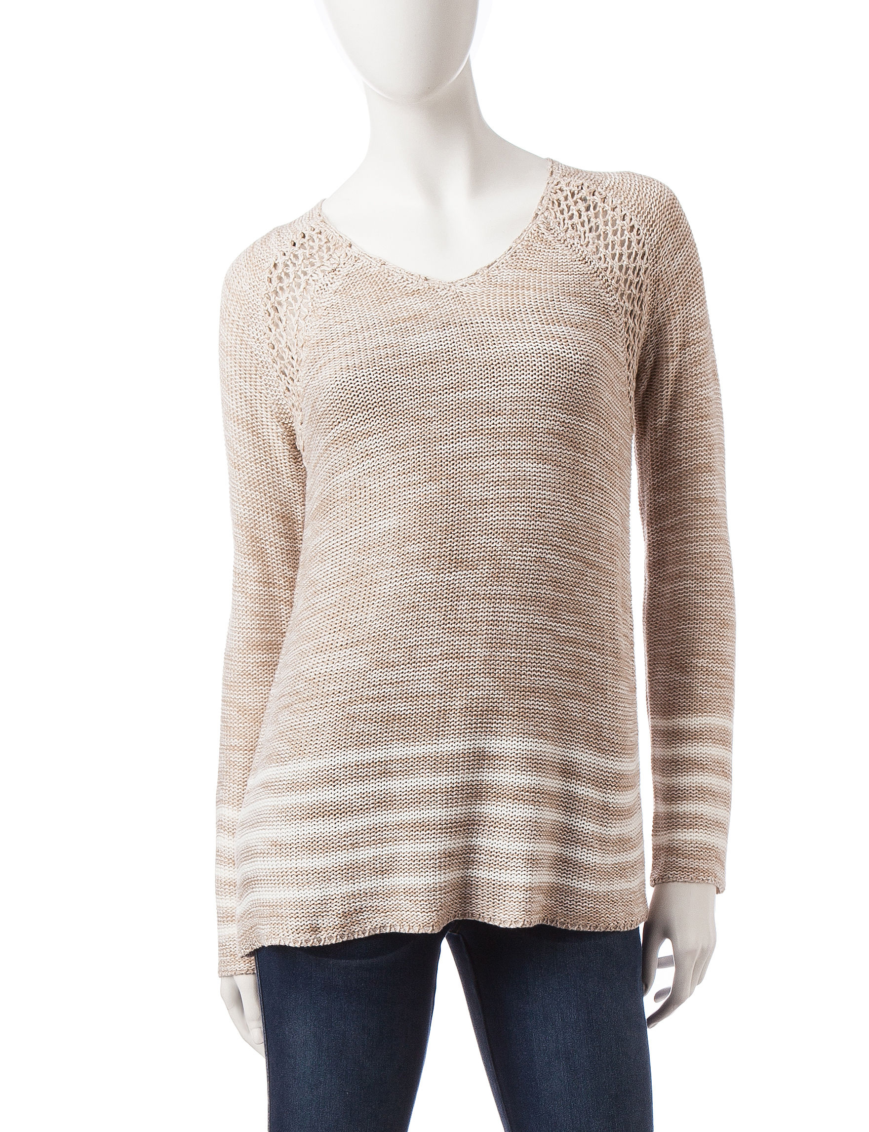 Hannah Oatmeal Pull-overs Sweaters