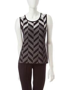 Kasper Chevron Knit Top