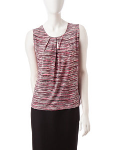 Kasper Multicolor Abstract Print Tank Top