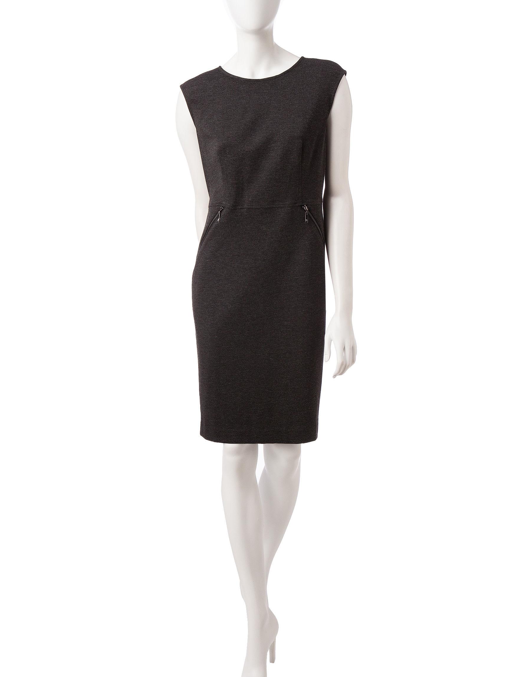 Kasper Grey Evening & Formal Everyday & Casual Sheath Dresses