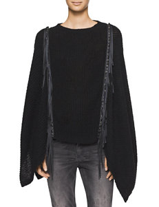 Calvin Klein Jeans Black Ponchos Pull-overs